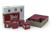 Billardkreide, Master, burgund, 12er Pack