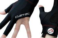 Handschuh, Cuetec Axis, 3-Finger, schwarz-rot, M