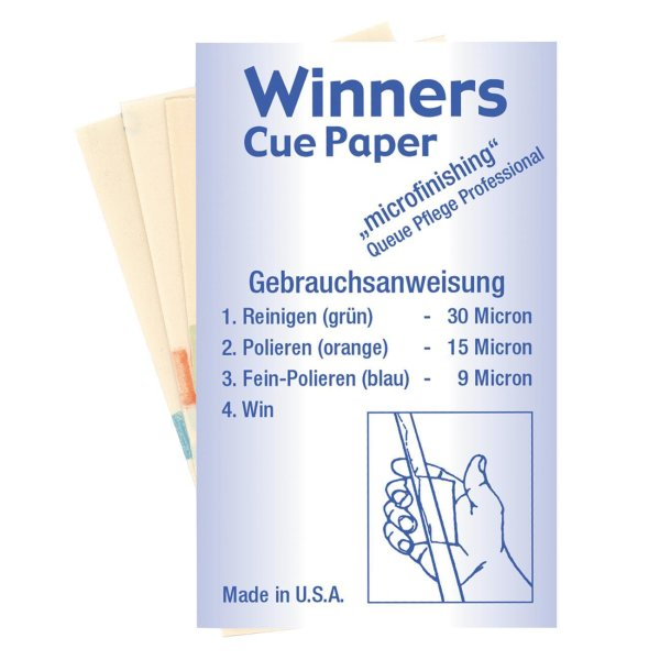 Winners Cue Paper Schleifpapier (Set)