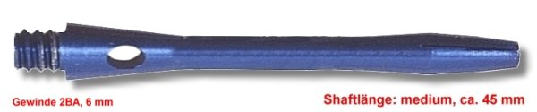 Shaft Alu medium ,ca.45 mm ,blau