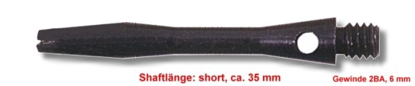 Shaft Alu short, ca. 35 mm, schwarz