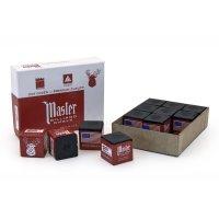 Billard-Kreide, Master, schwarz, 12er Pack