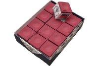 Billard-Kreide, Silver Cup, burgund, 12er Pack