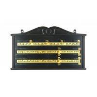 Snooker Punktetafel, Kunststoff, schwarz