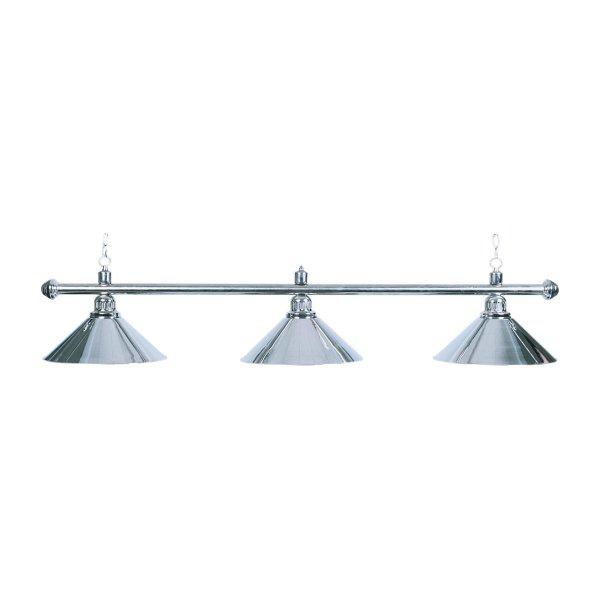 Billardlampe, Elegance, silber, 3 Schirme, Ø 35 cm, 112 cm