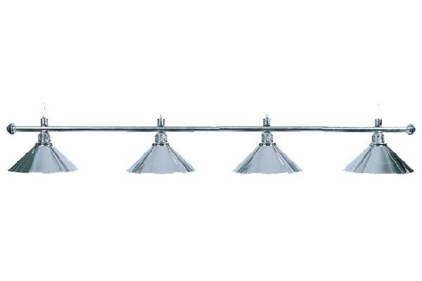 Billardlampe, Elegance, silber, 4 Schirme, Ø 35 cm, 145 cm