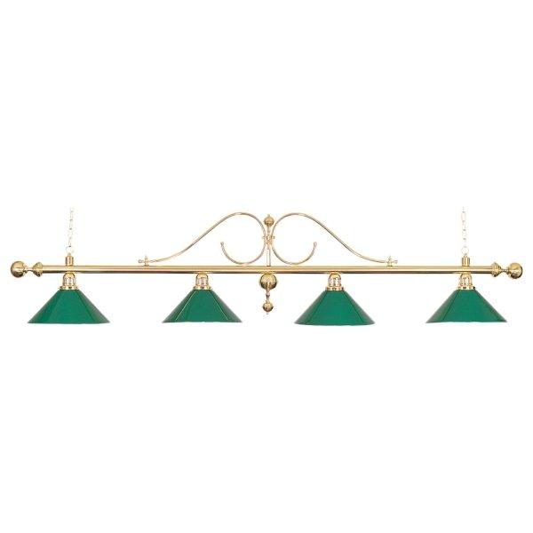 Billardlampe, Classic, grün, 4 Schirme, Ø 35 cm, 176 cm