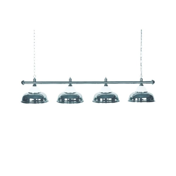 Billardlampe, Crown, silber, 4 Schirme, Ø 38 cm, 146 cm