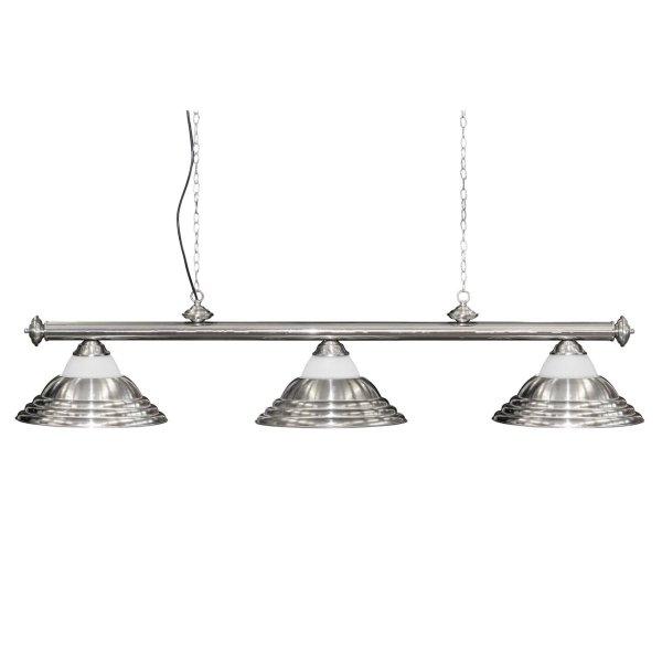 Billardlampe, Adagio, 3 Schirme, grau, Ø 40 cm, 150 cm