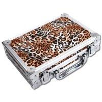Dartkoffer Luxus Alu Leopard